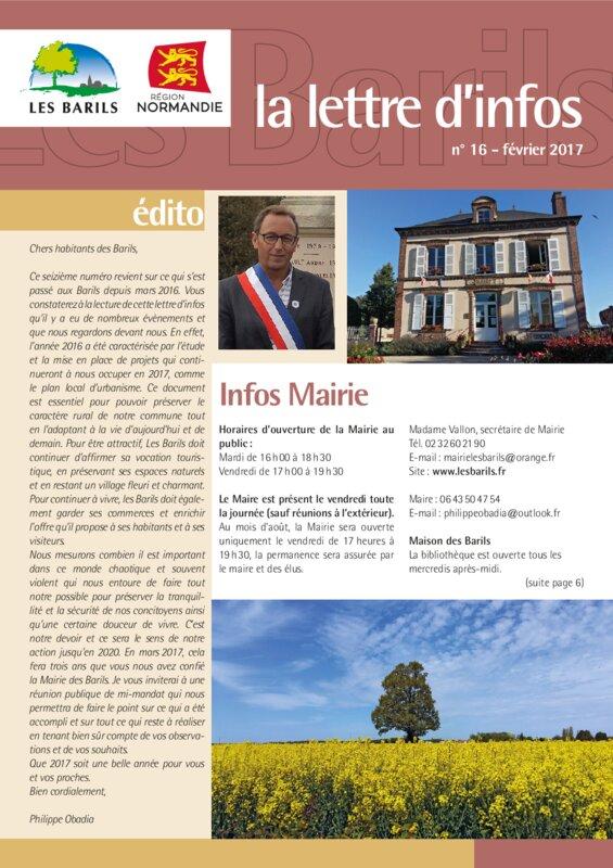 thumbnail of La-lettre-dinfos-numéro-16