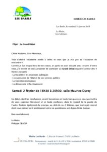 thumbnail of courrier Grand Débat