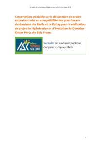 thumbnail of Réunion de concertation Les Barils verbatim