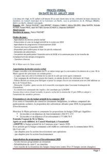 thumbnail of PV du 03 07 2020