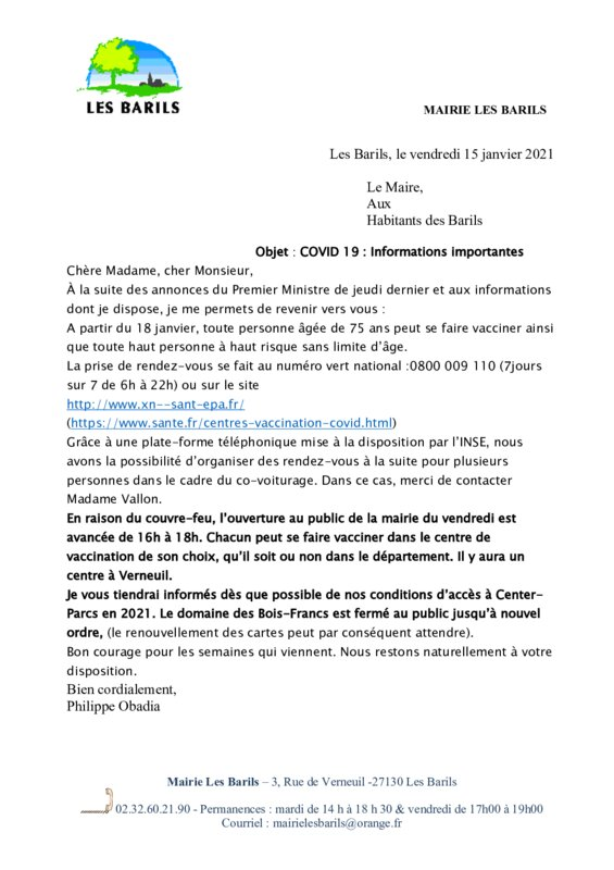 thumbnail of courrier covid janvier 21