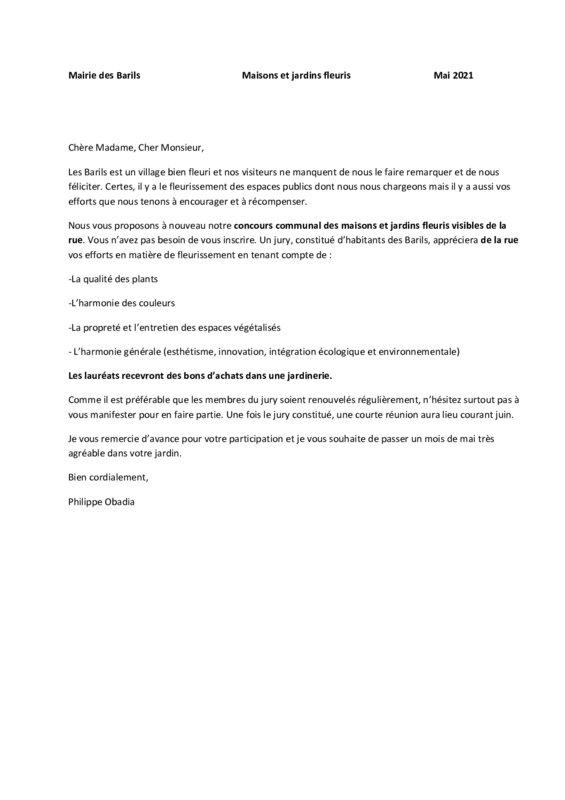 thumbnail of courrier concours maisons et jardins fleuris 2021